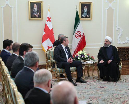 حضور نخست وزیر گرجستان در تهران
