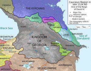 نقشه گرجستان در دوران دیوید چهارم