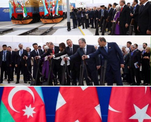افتتاح خط راه آهن باكو–تفليس–قارص