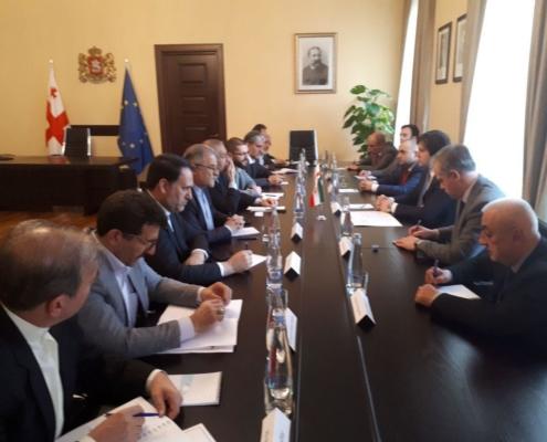 دیدار گروه دوستی پارلمانی ایران با رئیس پارلمان گرجستان