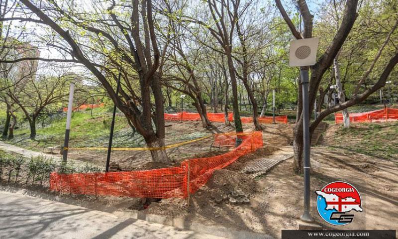 نوسازی پارک میزوری تفلیس